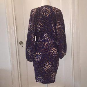 Parker Dresses - Parker animal printed silk wrap dress